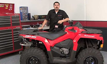2013 Can-Am Outlander 500 PCV Install Video