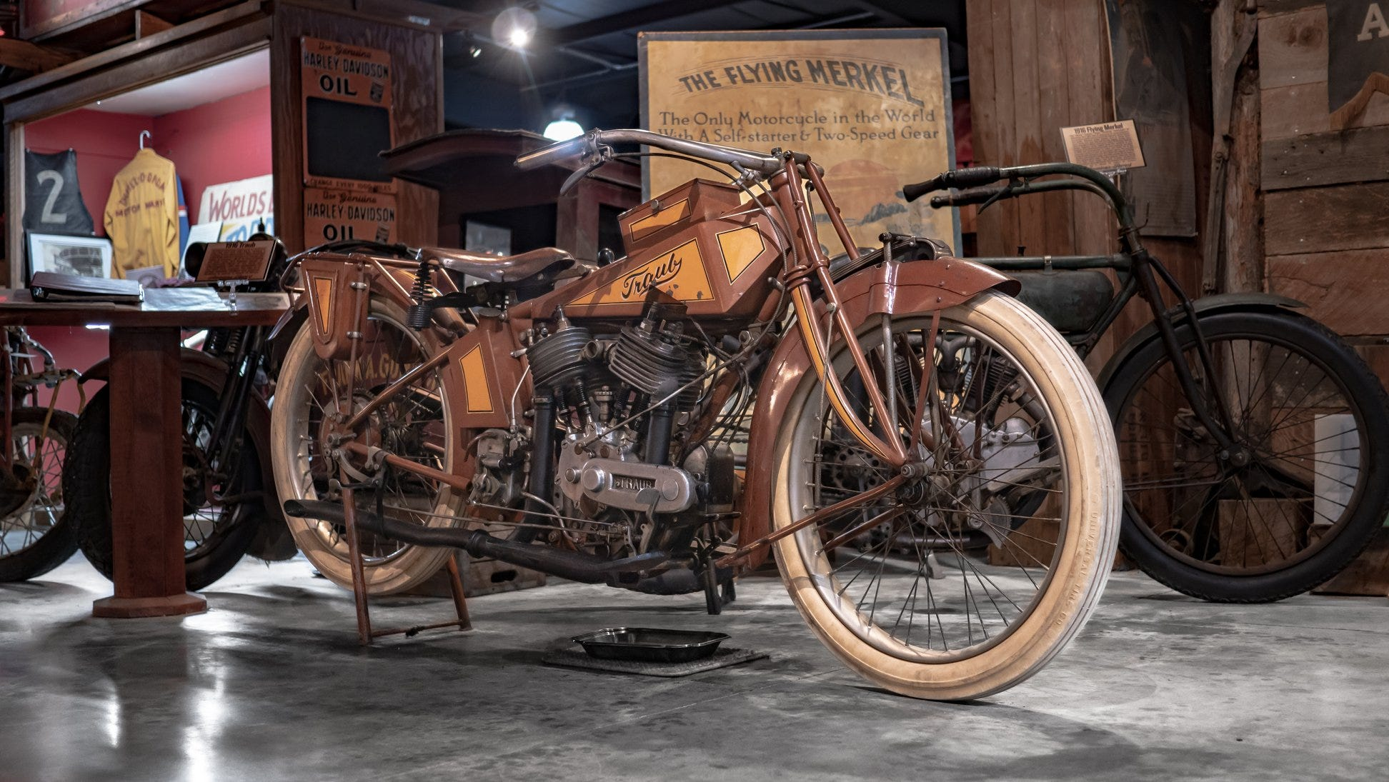 1916 Traub Motorcycle at Dale's Wheels Through Time Motorcycle Museum