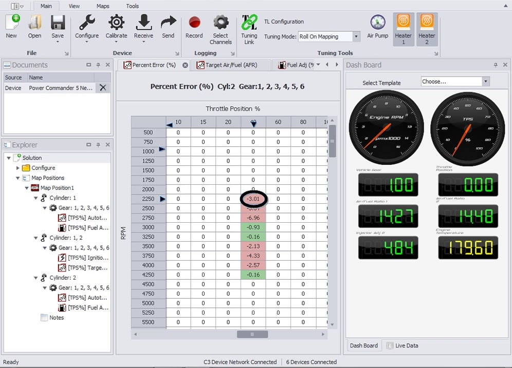 PowerCore fuel tuning software