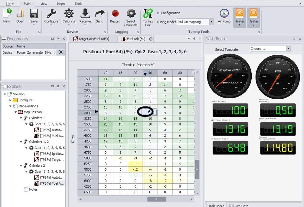 PowerCore fuel tuning air fuel ratio adjustment